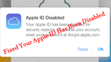 Fixed Your Apple ID Has Been Disabled