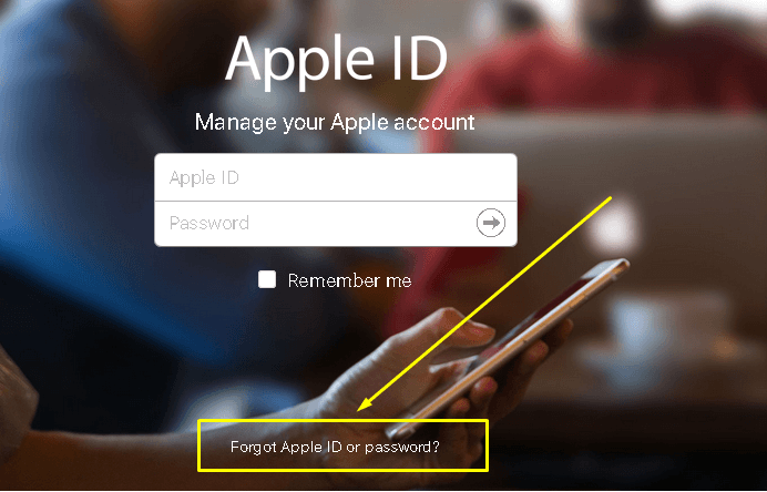 Login to your apple id